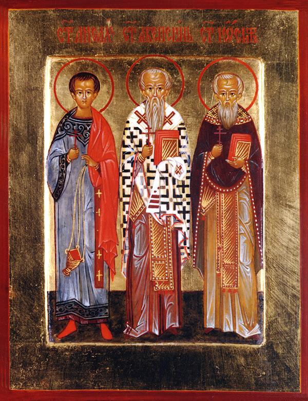 Άγιοι Μάρτυρες Αειθαλάς, Ακεψιμάς και Ιωσήφ