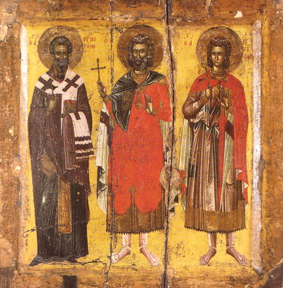 Άγιοι Μηνάς, Ερμογένης και Εύγραφος