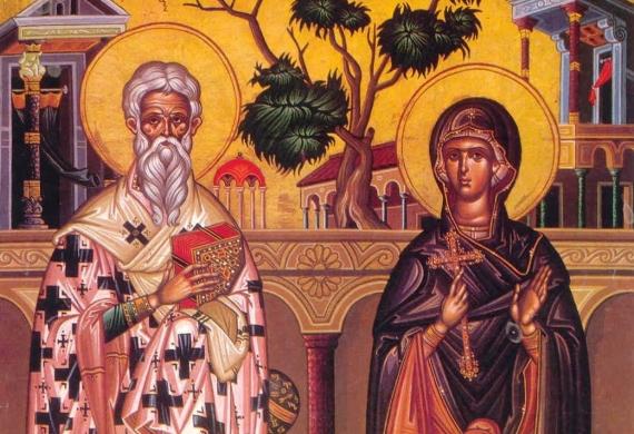 Άγιος Κυπριανός, Αγία Ιουστίνη