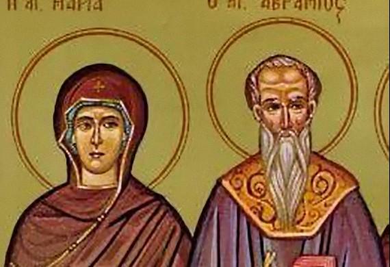 Ο άγιος Αβράμιος και η ανεψιά του Μαρία