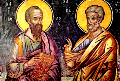 Οι πρωτοκορυφαίοι Απόστολοι Πέτρος και Παύλος