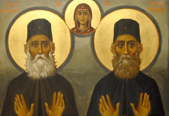 Οι όσιοι Παρθένιος και Ευμένιος της μονής Κουδουμά της Κρήτης