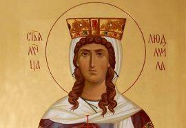 Η αγία μάρτυς Λουντμίλα, βασίλισσα των Τσέχων