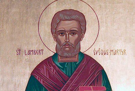Ο άγιος Λαμβέρτος επίσκοπος Μαιστρίχτης