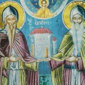 Οι όσιοι Νεκτάριος και Θεοφάνης, κτίτορες της Μονής Βαρλαάμ των Μετεώρων