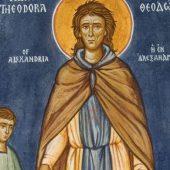 Από τον βίο της οσίας Θεοδώρας