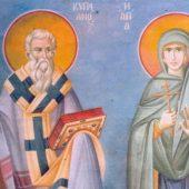 Ο άγιος Κυπριανός και η αγία Ιουστίνη