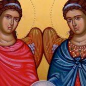 Οι των ασωμάτων Αρχιστράτηγοι Μιχαήλ και Γαβριήλ
