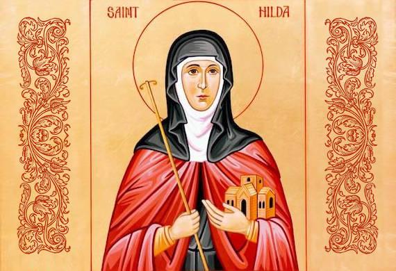 Η αγία Χίλντα, ηγουμένη του Χουίτμπυ