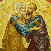 Η παράδοση των αγίων Αποστόλων Πέτρου και Παύλου