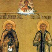 Οι όσιοι Ιωάννης και Συμεών στην έρημο